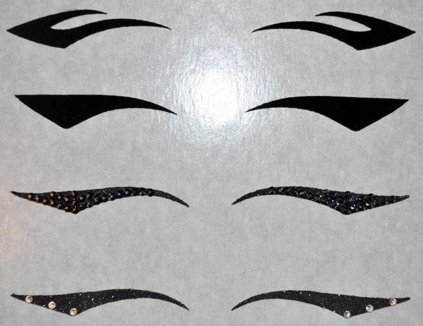 Трафареты для стрелок глаз своими руками