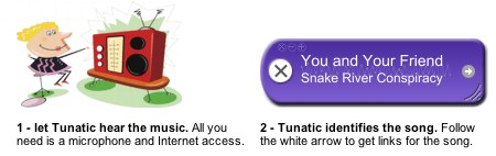 Tunatic free music identification software