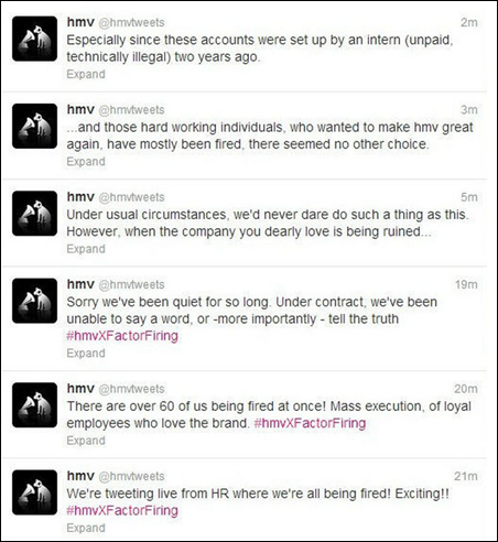 HMV Employee Hijacks Company Twitter Account Amid  Mass Execution  Layoffs