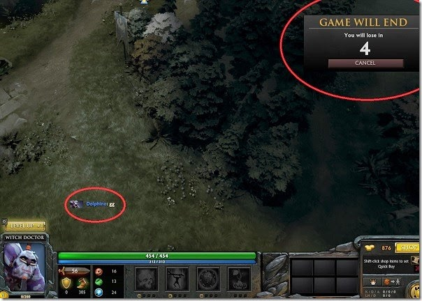 How to Forfeit in Dota 2
