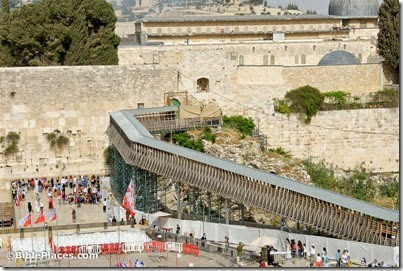 Temporary wooden bridge leading to Mughrabi gate of Temple Mount, tb050312541