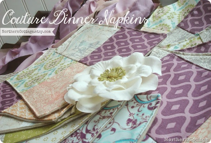 Couture Dinner Napkins {NorthernCottage}