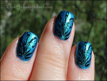 Flowers in Teal 3