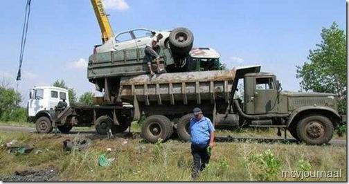 Dacia crash in Rusland 01