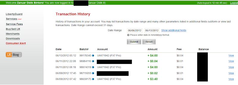 Bukti Pembayaran fx7pro.com (Pembayaran Kelima $4.0 USD)