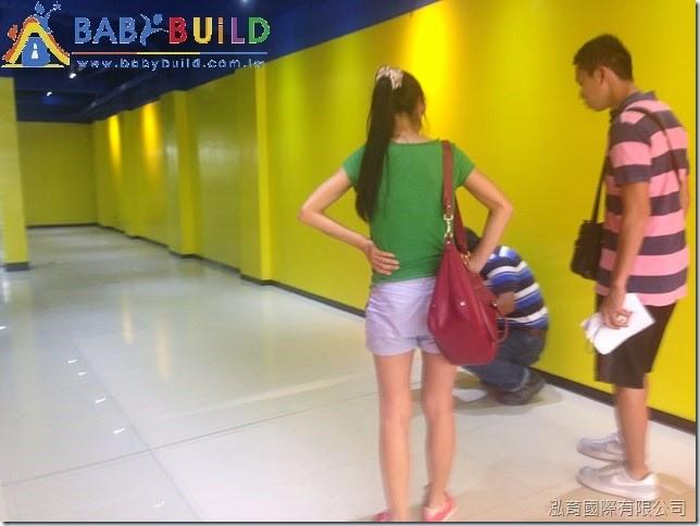 BabyBuild 兒童遊具現場尺寸定位確認