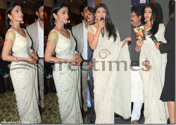 Shriya_White_Saree