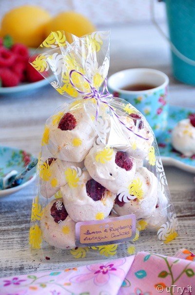 Lemon Raspberry Meringue Bubbles