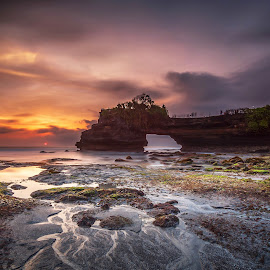 The Batu Bolong by Chandra Chung - Landscapes Sunsets & Sunrises ( bali, indonesia, sunset, seascape, beach,  )