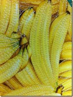 Banana closeup