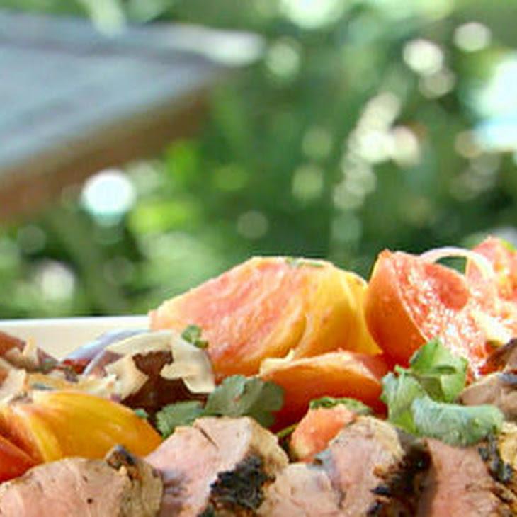 ... Pork Tenderloin With Spicy Chili-coconut Tomato Salad Recipe   Yummly