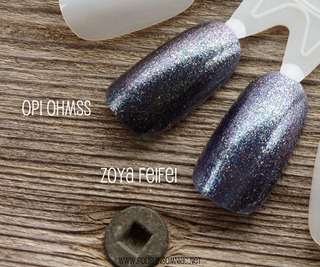 OPI On Her Majesty's Secret Service vs Zoya FeiFei 3
