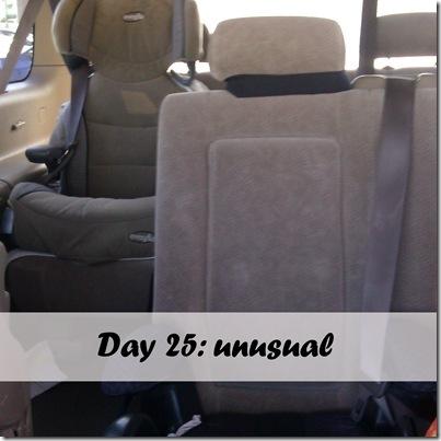 Day 25 unusual