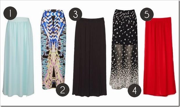 Cómo llevar falda larga 02 Faldas