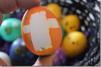 Decorate Easter Egg with cross