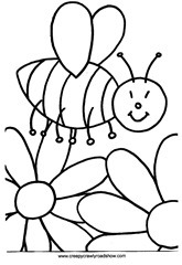 Bee-colouring-page