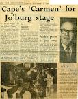 Cape's 'Carmen' for Jo'Burg stage