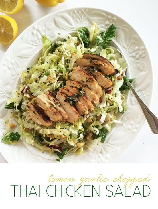 Lemon Garlic Chopped Thai Chicken Salad