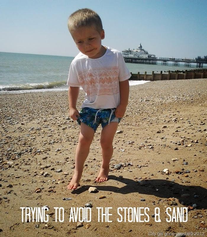 stones, sand, beach, eastbourne, pier