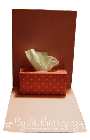 Kleenex Card Tutorial - Get well card - Inky Impressions - Ruthie Lopez  DT 5