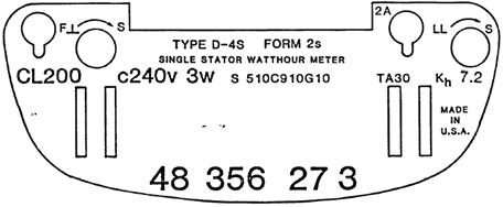 Meter Nameplate