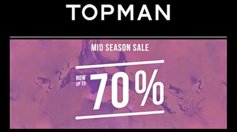 Topman Mid Season Sale banner