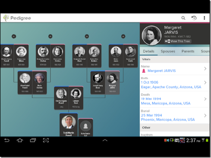 FamilySearch is working on a smart phone app for Family Tree