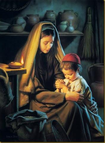 JESUS ORANDO CON MARÍA