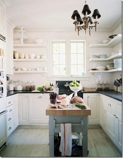 Kitchen white kitchen open shelving black GysFTdbjUiLl