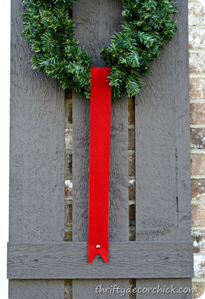 wreaths on shutters