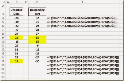 Automated Data Column Sorting in Excel - Automated Descending Sort in Excel