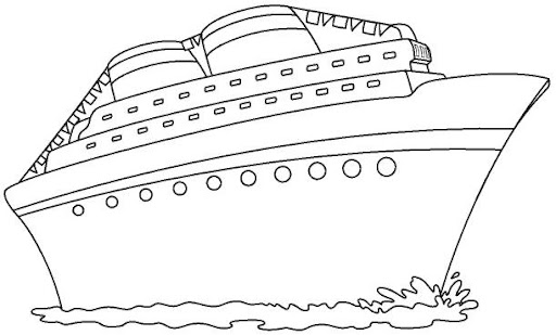 Cruise ship coloring pages for Cruise coloring pages