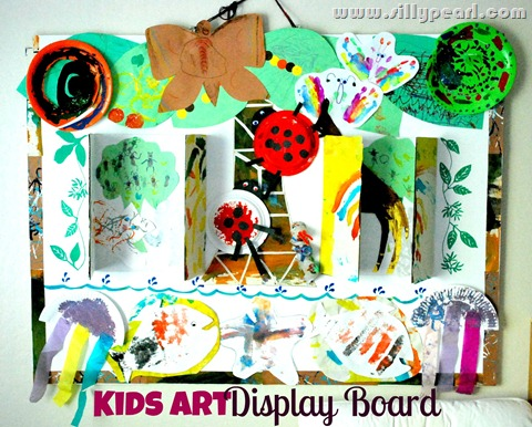 Kids Art Display Board With Elmers