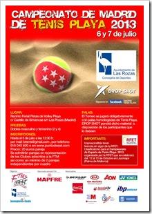 Campeonato Tenis Playa en Las Rozas (Madrid), 6 y 7 julio de 2013 con Drop Shot.
