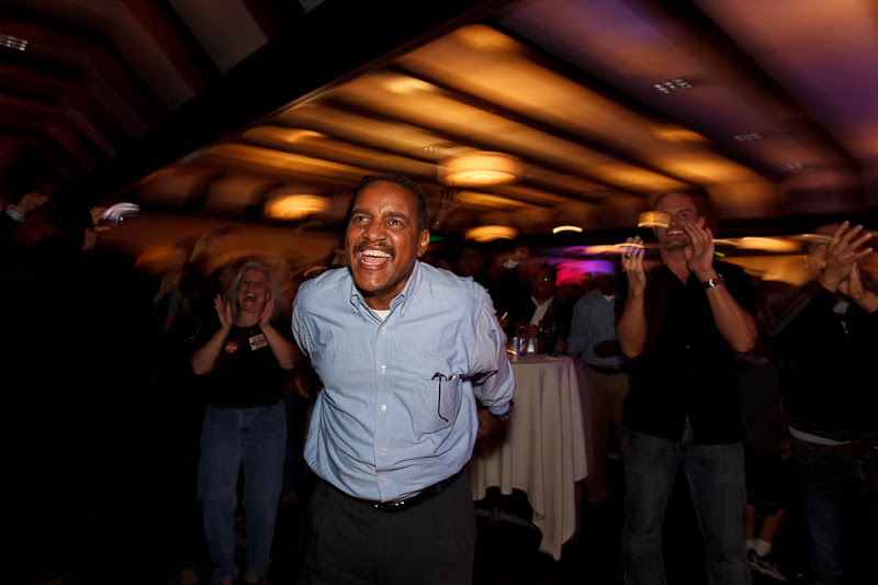 Hussein Adawe celebrates Obama win