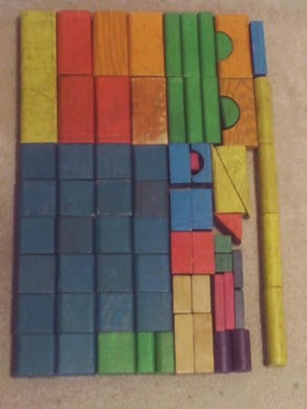 Playskool Blocks Laid Out