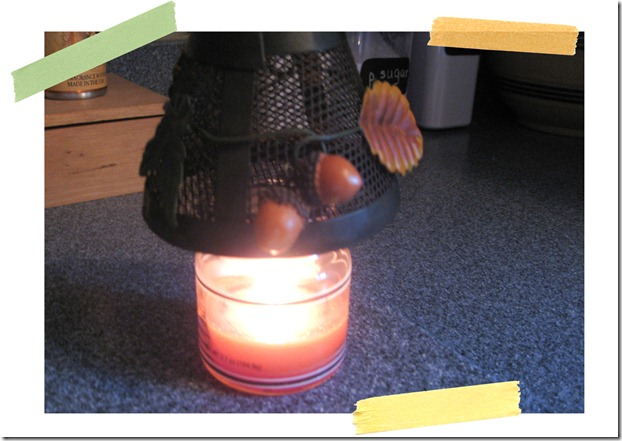CandlewithTapeStrips