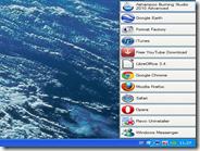 Una barra a scomparsa sul desktop per avviare le applicazioni preferite con un clic