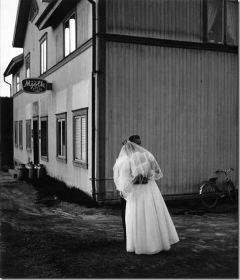 Alvar och Irma Johanssons bröllop, Arnäs, Örnsköldsvik 1956.