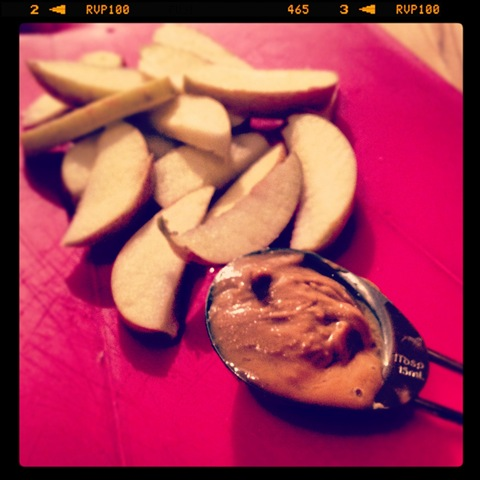 #260 - apple slices and peanut butter