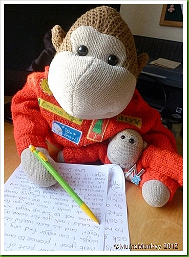 Writing letters to Santa father Christmas
