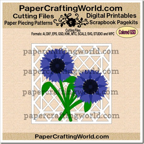 cornflower card ppr-cf-500