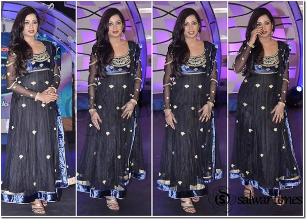 Shreya_Ghoshal_Black_Net_Salwar_Kameez