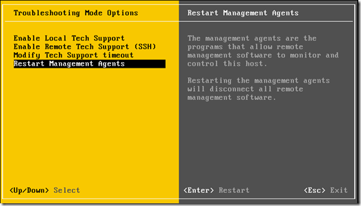 Restart Management Agents