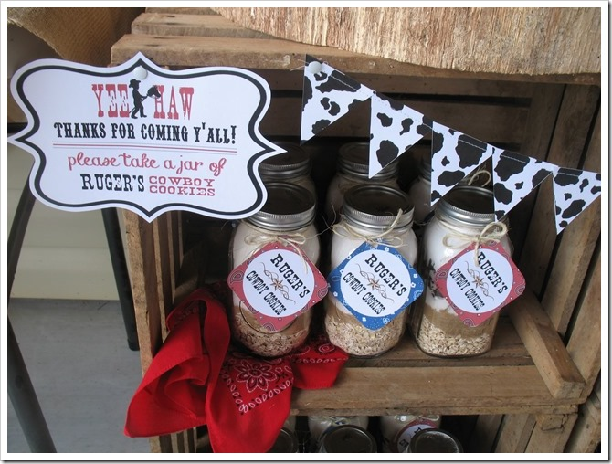cowboy cookie favors party