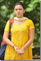 swetha in yellow dress