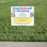 Yard sign for Drain Med...