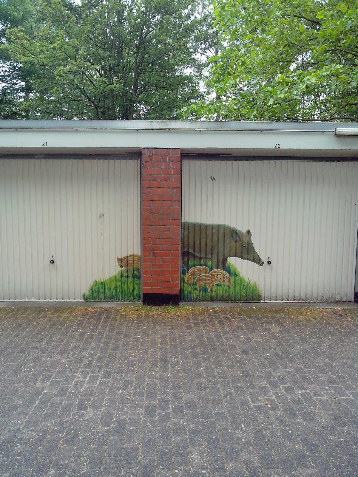 streetart blog  sammlung hirsch wildschweine eichhörnchen