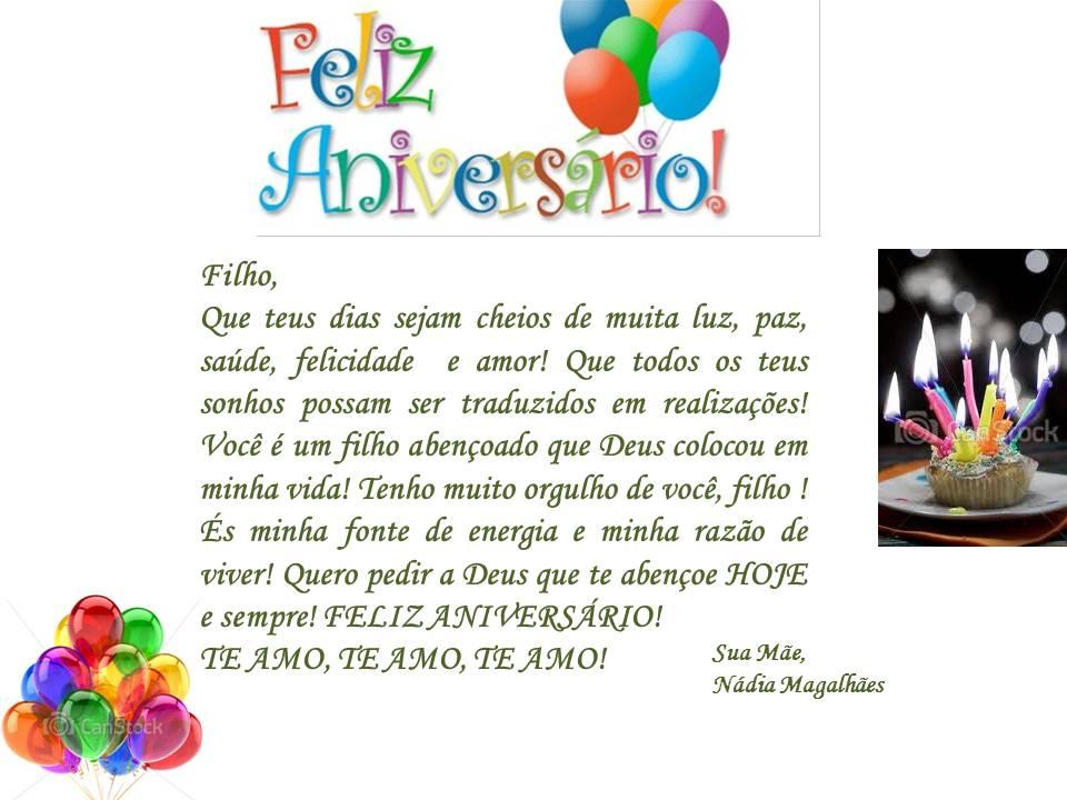 Tag Mensagem De Aniversario De Mae Para Filho De 1 Ano