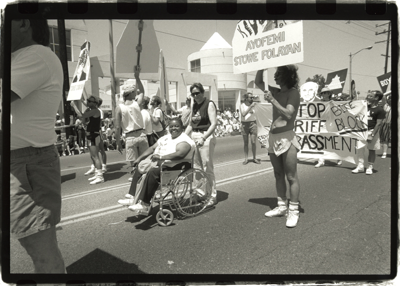 Participants in the Los Angeles Christopher Street West pride parade. June 25, 1989.